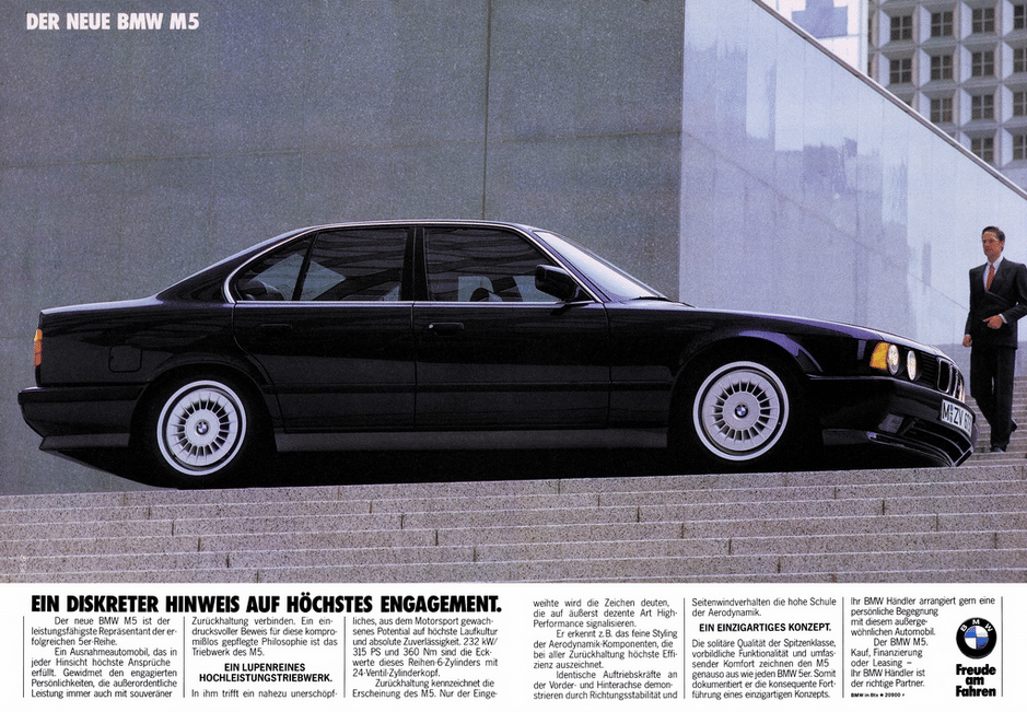 BMW M5 E34 advertisment
