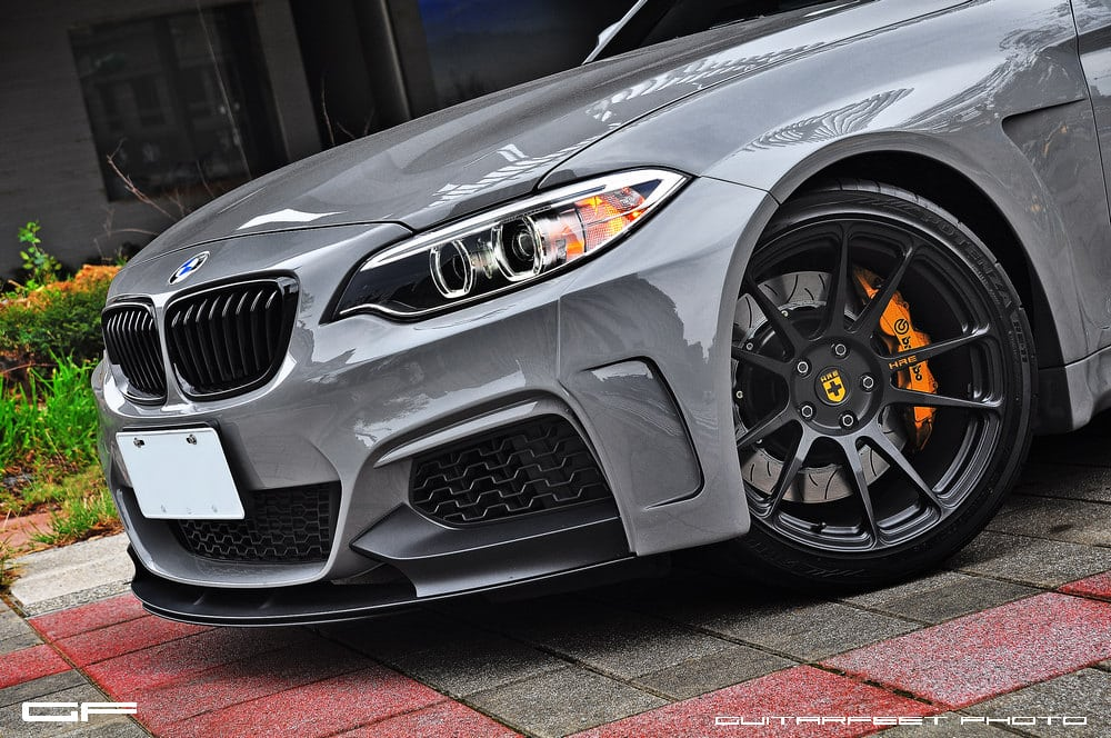 Brembo Gt Brake Kit >> Manhart Performance BMW M235i with HRE P44SC in Satin Black