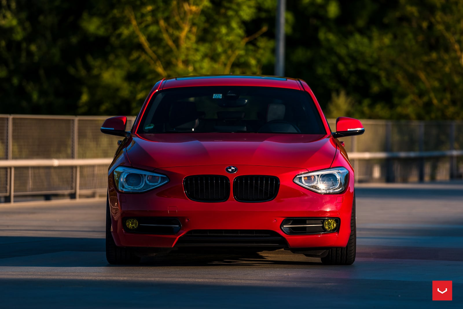 red bmw 1 series f20 on vossen cvt wheels. Black Bedroom Furniture Sets. Home Design Ideas