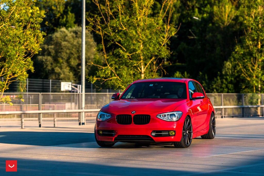 Red-BMW-F20-1-Series-On-Vossen-CVT-Wheels-12