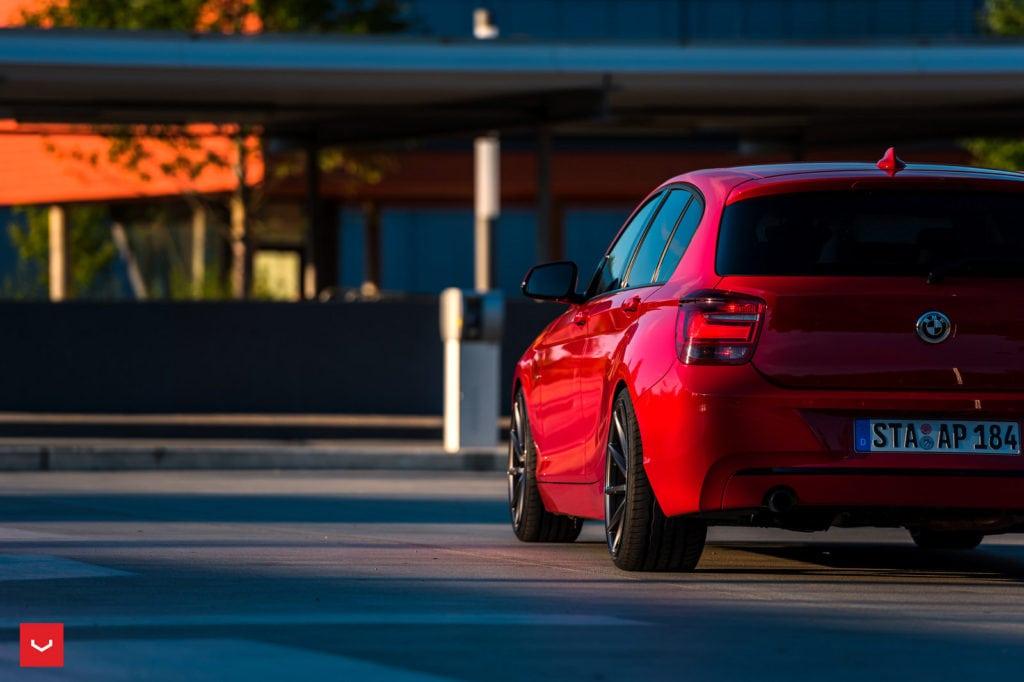 Red-BMW-F20-1-Series-On-Vossen-CVT-Wheels-4