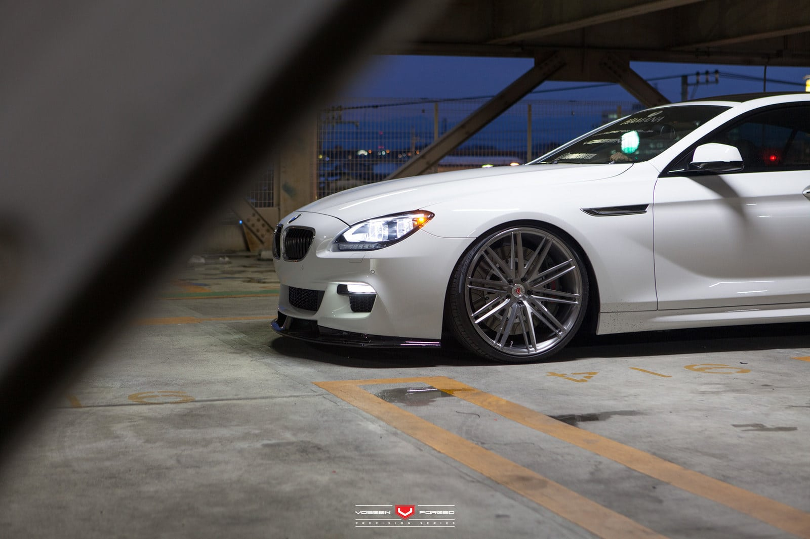 alpine white bmw 6 series gran coupe rocking vossen wheels. Black Bedroom Furniture Sets. Home Design Ideas
