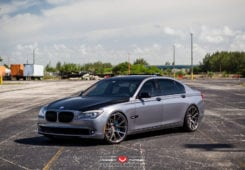 BMW F01 7 Series On Vossen Wheels