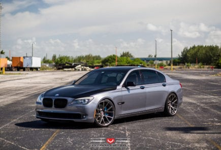 BMW F01 7 Series On Vossen Wheels