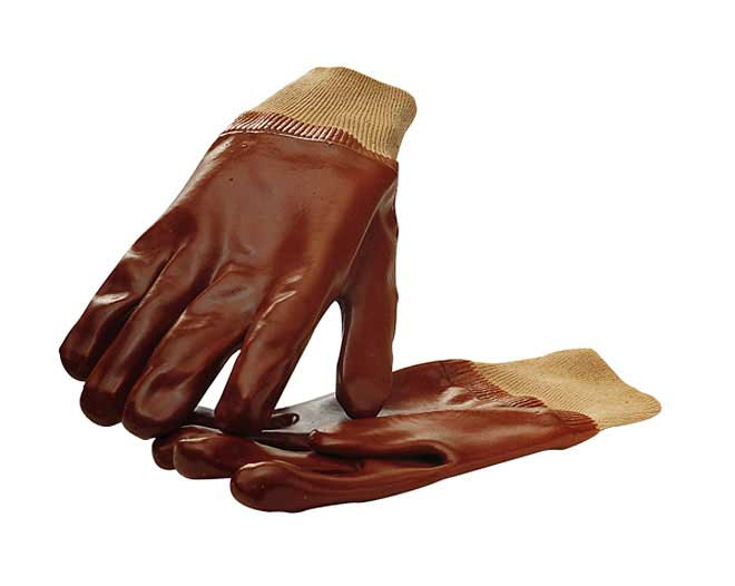 Example of rubber gloves to protect your hands against hot engine oil (Biltema 38-277).